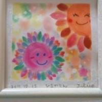 東大阪*子育て支援センターにてママさん方にパステルアート を描いていただきました☆
