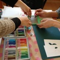 奈良平群でのパステルアートワークショップ( ´  ▽ ` )ノ