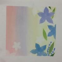 秋の七草、桔梗をパステル和アートにて。絵画は心で描くもの。