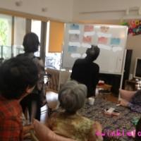 デイサービス、パステル和アート、グループワーク、高齢 者の方々と楽しむひととき○大阪