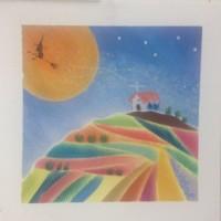 四季の丘の上の教会 パステル和アートは宇宙 も自由自在 東大阪、八尾