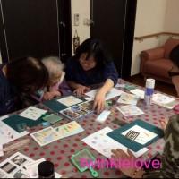 パステル和アート出張、奈良桜井、香芝市。三 世代交流レクリエーション