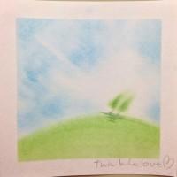 希望の丘。今日という大切な1日を感謝して生きよう。 パステル和アートで愛をこめて。